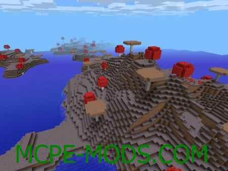 Mushroom Island with Mooshrooms Seed 0.11.1/0.10.5/0.9.5