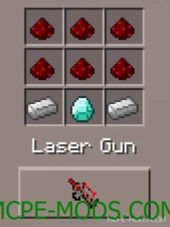 Laser Guns Mod 0.15.3/0.15.2/0.15.1/0.15.0/0.14.3/0.14.1/0.14.0/0.13.1
