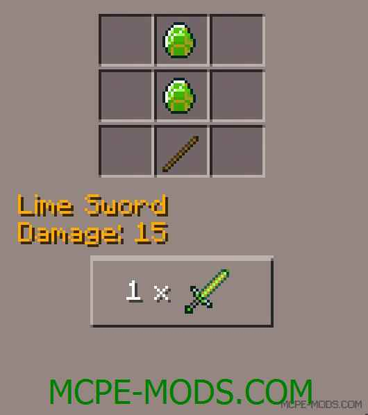 Lime Sword Mod 0.11.1