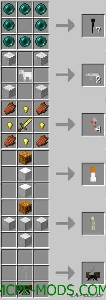 Craftable Mobs Mod 0.11.1