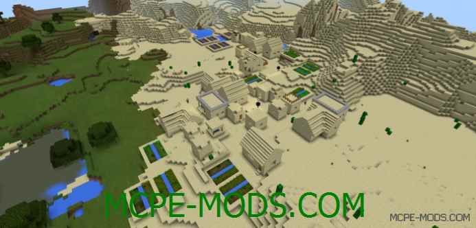 Sand Village with Multiple Blacksmiths Seed 0.11.1