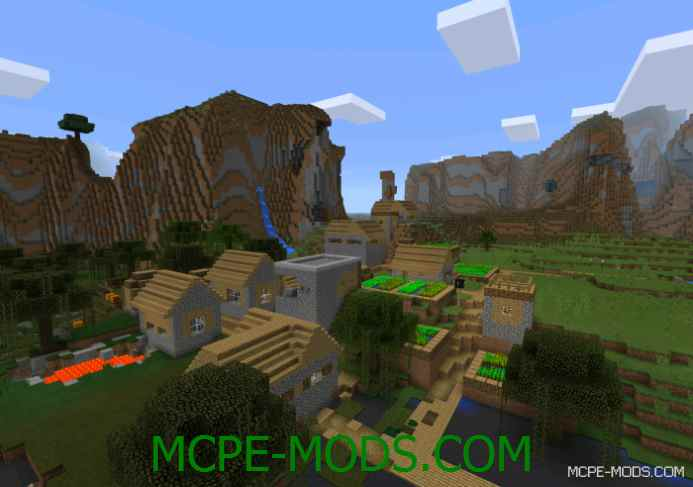 Village in an Extreme Hills Biome Seed 0.11.1