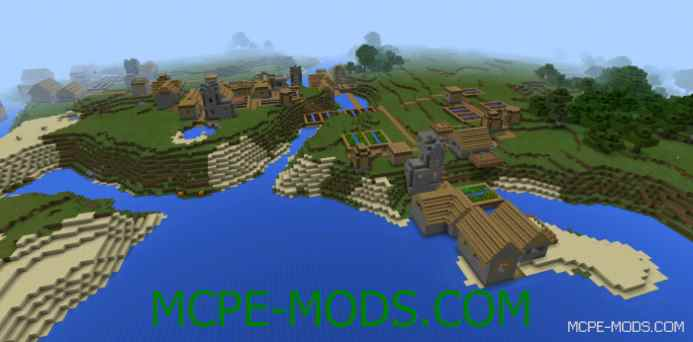 Four Villages at Spawn Seed 0.11.1