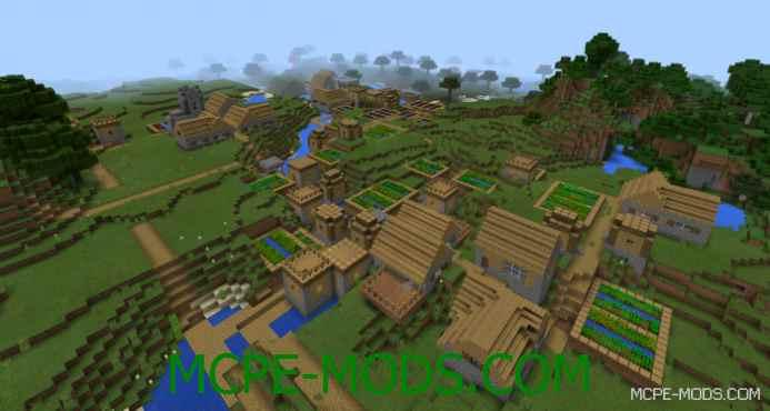 Triple Village at Spawn Seed 0.11.1