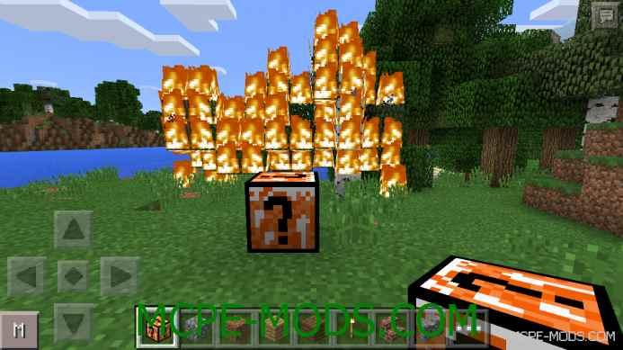 Fire Lucky Blocks Mod 0.11.1