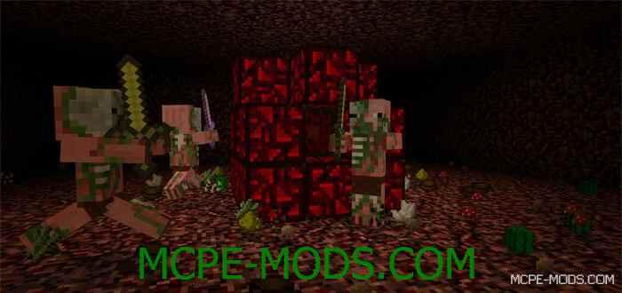 Мод на Реактор Нижнего Мира для Майнкрафт 0.13.0 (Reactor Revival Mod для Minecraft PE)