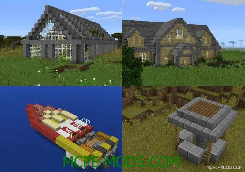 Мод на постройки Insta House v8.0 для Майнкрафт 0.13.0