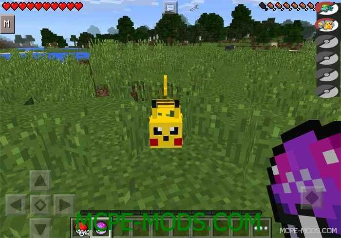 Мод Pixelmon PE для Майнкрафт 0.13.1 (мод пиксельмон для Minecraft Pocket Edition 0.13.1)