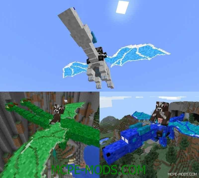 Мод Dragon Mount для Minecraft PE 0.14.0 – полет на драконах