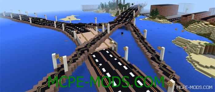 Карта New Chicago для Minecraft PE 0.14.0 – Огромный Чикаго для MCPE 0.14.0