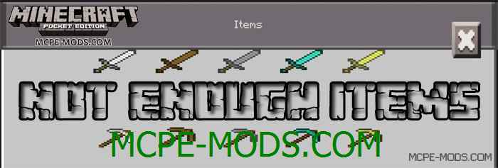 Мод Not Enough Items для Minecraft PE 0.14.0