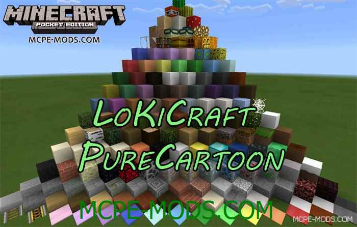 Текстуры LoKiCraft PureCartoon для Minecraft PE 0.14.0