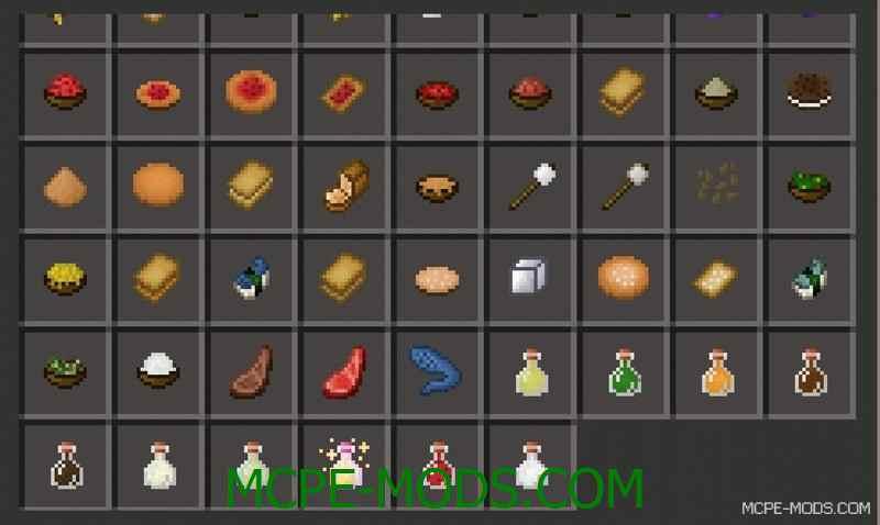 Мод Usefull Food для Minecraft PE 0.14.0