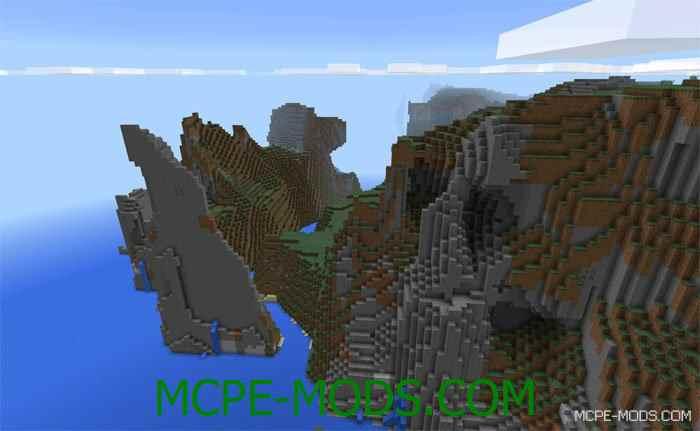 Сид Экстремальный горный остров на Minecraft PE 0.14.0
