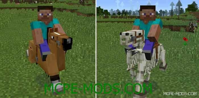Мод на лошадей - Horses Mod для Minecraft PE 0.14.0
