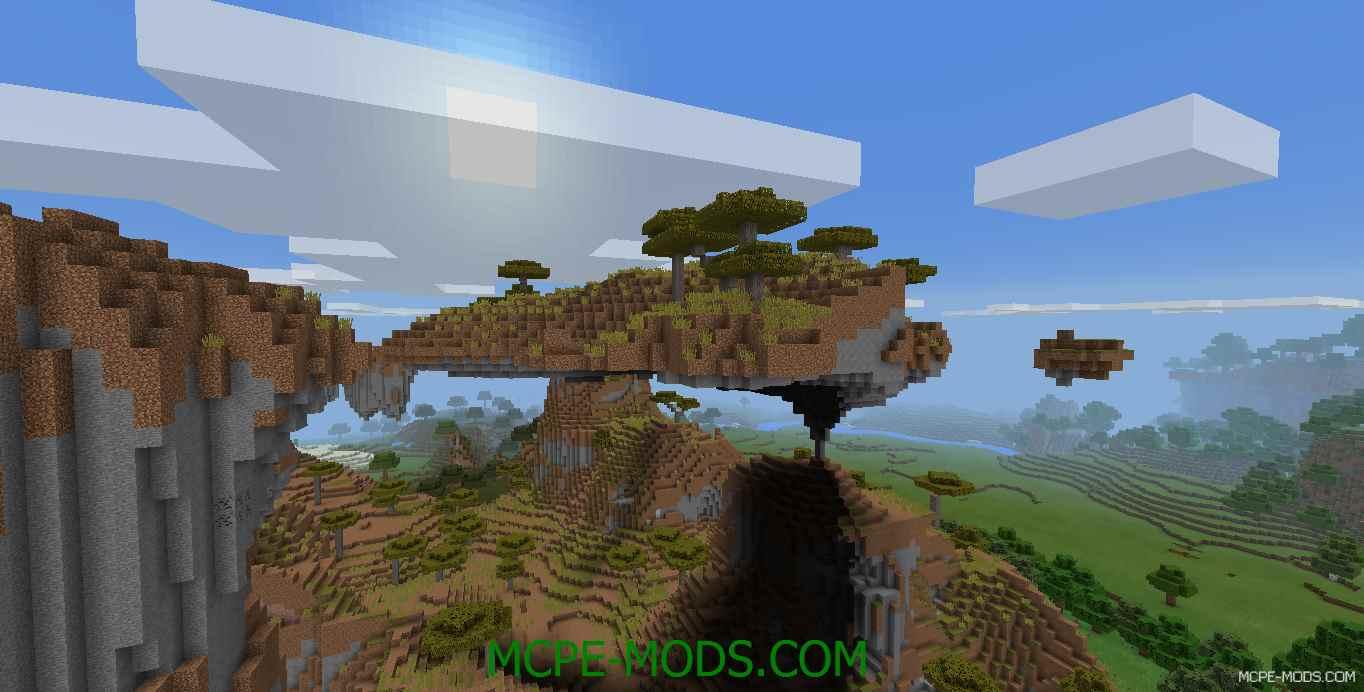Сид Летающий остров в саванне на Minecraft PE 0.14.0