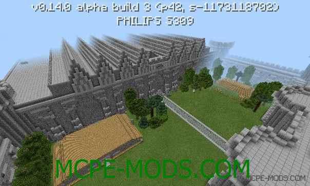 Карта MineCastle на Minecraft PE 0.14.0
