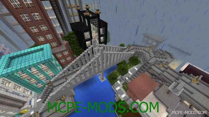 Карта на Майнкрафт на Андроид Город