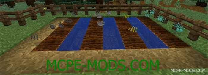 Мод на выращивание руды Ore Crop для Minecraft PE 0.14.0