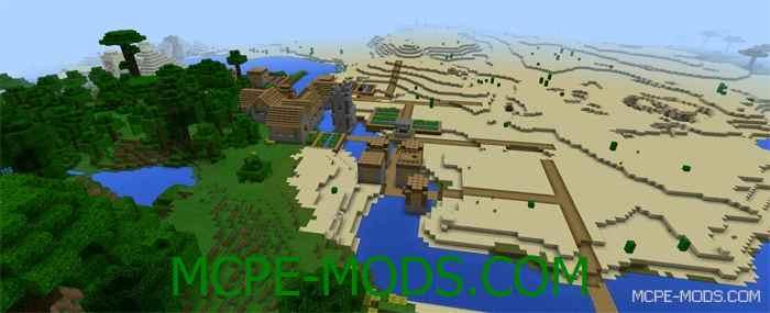 Сид Храм в джунглях и деревня на Minecraft PE 0.14.0