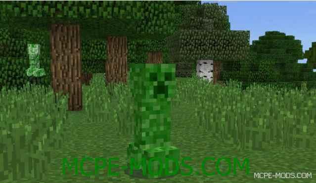 Мод Крипер-Хамелеон на Minecraft PE 0.14.0
