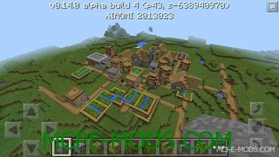 Сид с городком на Minecraft PE 0.14.0