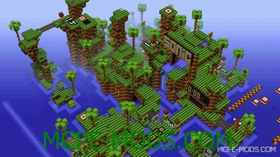 Паркур-карта Sonic the Hedgehog на Minecraft PE 0.14.0