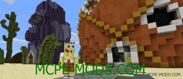 Карта Bikini Bottom City на Minecraft PE 0.14.0
