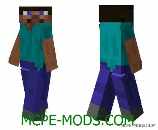 Скин Причудливый Стив на Minecraft PE 0.14.0