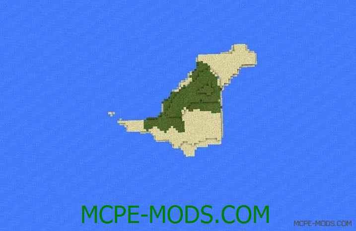 Сид на пустынный остров для Майнкрафт ПЕ 0.14.0 / 0.14.1 / 0.14.2 / 0.14.3