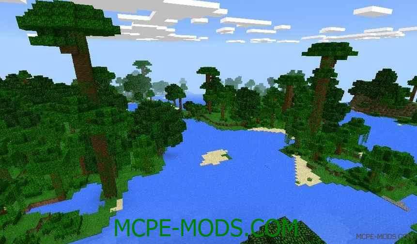 Сид на джунгли и огромную пустыню для Майнкрафт ПЕ 0.14.0 / 0.14.1 / 0.14.2 / 0.14.3