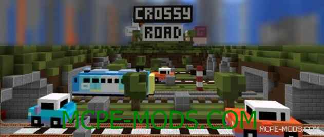 Карта Crossy Road PE на Майнкрафт 0.14.0 / 0.14.1 / 0.14.2 / 0.14.3 скачать