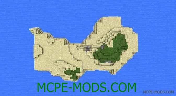 Сид на остров с множеством пещер для Майнкрафт ПЕ 0.14.0 / 0.14.1 / 0.14.2 / 0.14.3