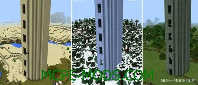 Мод Battle Towers PE на Майнкрафт 0.15 скачать бесплатно