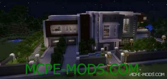 Карта Modern Mansion на Майнкрафт 0.14.0 / 0.14.1 / 0.14.2 / 0.14.3 скачать