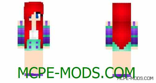 Скачать скин Modern Day Ariel на Майнкрафт 0.14.0 / 0.14.1 / 0.14.2 / 0.14.3