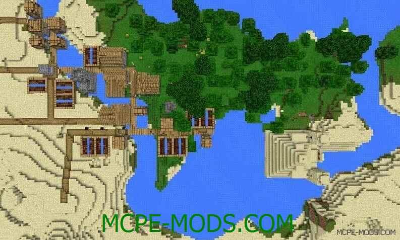 Сид на деревню в джунглях и пирамиду для Майнкрафт ПЕ 0.14.0 / 0.14.1 / 0.14.2 / 0.14.3