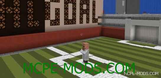 Карта Super Power Soccer на Майнкрафт 0.14.0 / 0.14.1 / 0.14.2 / 0.14.3 скачать