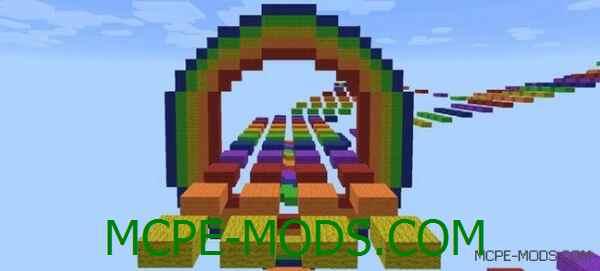Карта Nyan Lights PE на Майнкрафт 0.14.0 / 0.14.1 / 0.14.2 / 0.14.3 скачать