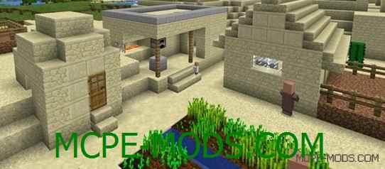 Сид на пустынную деревню с кузницей и храмом для Майнкрафт ПЕ 0.14.0 / 0.14.1 / 0.14.2 / 0.14.3