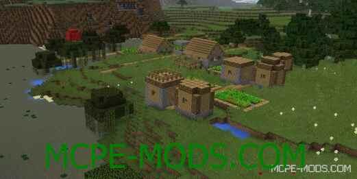 Сид Хижина ведьмы и деревня на спавне для Майнкрафт ПЕ 0.14.0 / 0.14.1 / 0.14.2 / 0.14.3 на дом