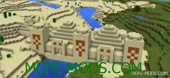 Сид Дублированный песчаный Храм для Майнкрафт ПЕ 0.15.0 / 0.15.1 / 0.15.2