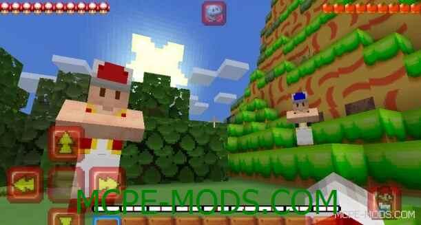 Текстур пак Super Mario для Майнкрафт ПЕ 0.15.0 / 0.15.1 / 0.15.2