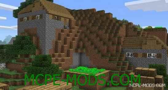 Сид Две деревни и два кузнеца для Майнкрафт ПЕ 0.14.0 / 0.14.1 / 0.14.2 / 0.14.3 на город
