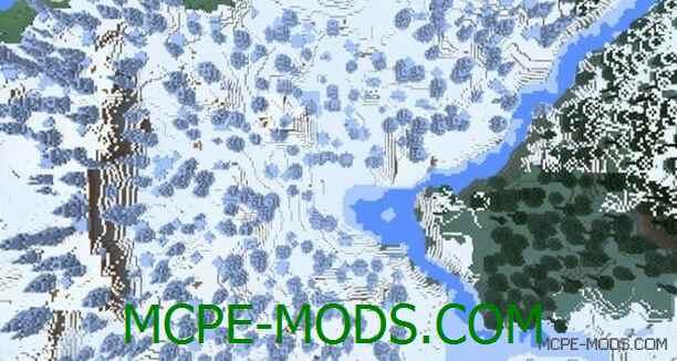 Сид Ледниковая тундра на спавне для Майнкрафт ПЕ 0.15.0 / 0.15.1 / 0.15.2