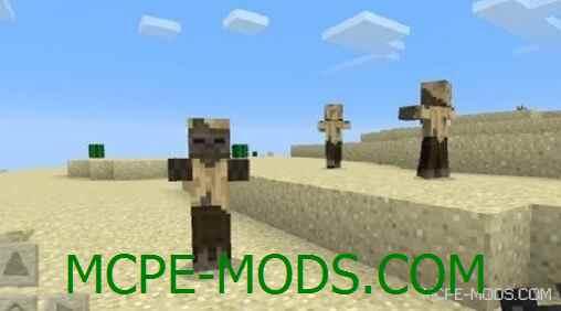 Песчаные Зомби в Пустыне в Майнкрафт 0.15.0