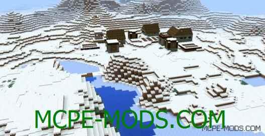 Сид Три деревни в снежном биоме для Майнкрафт ПЕ 0.15.0 / 0.15.1 / 0.15.2 / 0.15.3