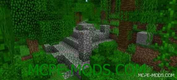 Сид Захороненный храм в джунглях для Майнкрафт ПЕ 0.15.0 / 0.15.1 / 0.15.2 / 0.15.3