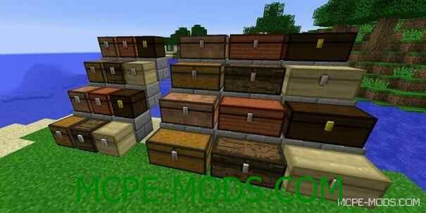 Различные типы сундуков в Minecraft PE 0.16.0