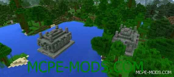 Сид Два Храм в джунглях рядом со спавном для Майнкрафт ПЕ 0.15.0 / 0.15.1 / 0.15.2 / 0.15.3